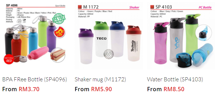 Water bottle Supplier Malaysia
